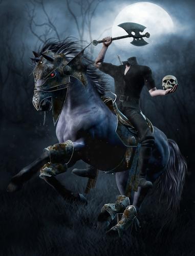 A headless horseman