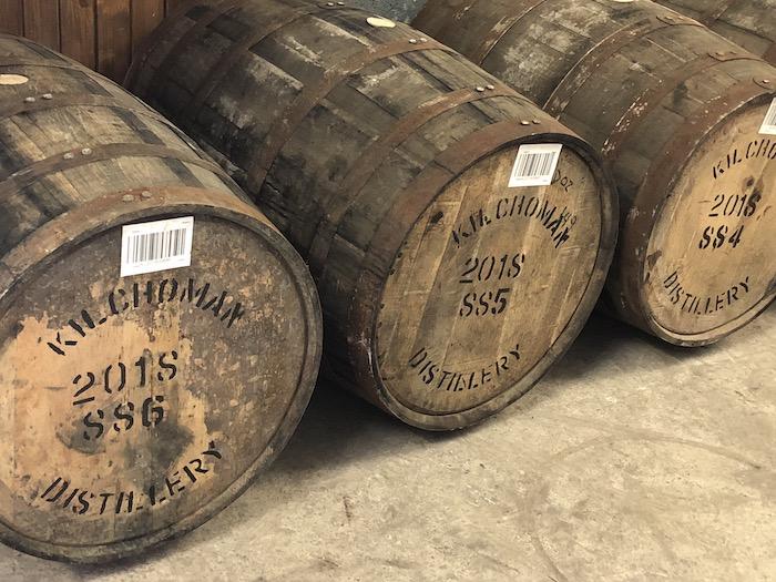Kilchoman Distillery whisky barrels