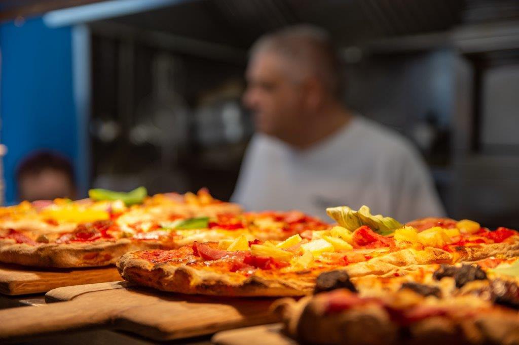 Pizzas in Peatzeria on Islay